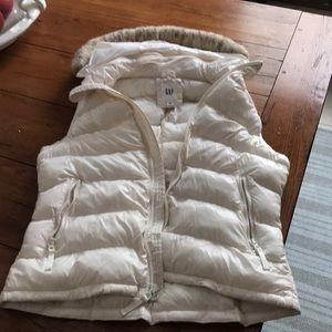 GAP hooded zip vest